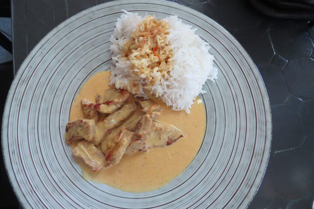 plat viande sauce au safran